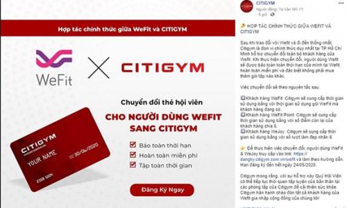 Citigym là đối tác duy nhất hỗ trợ toàn bộ khách hàng của Wefit & WeJoy