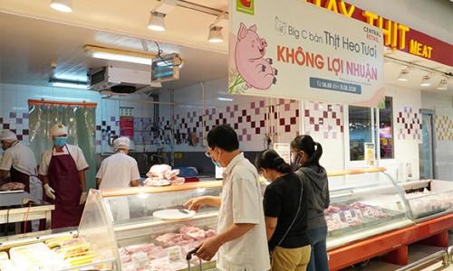 GO! / Big C bán thịt lợn tươi không lợi nhuận
