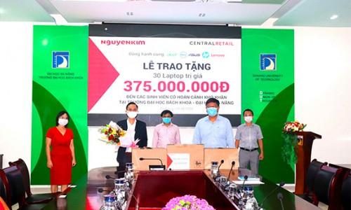 Nguyễn Kim triển khai chuỗi chương trình trao tặng trang thiết bị cho các bệnh viện Đà Nẵng, Quảng Nam và tặng laptop hỗ trợ sinh viên học trực tuyến
