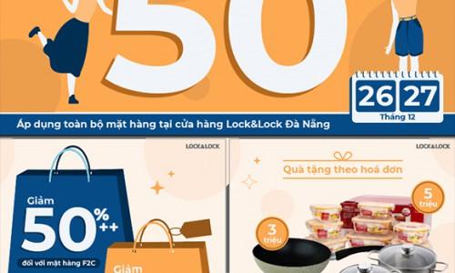 Tưng bừng mùa lễ hội cuối năm, Lock&Lock Đà Nẵng tung khuyến mãi đến 50%