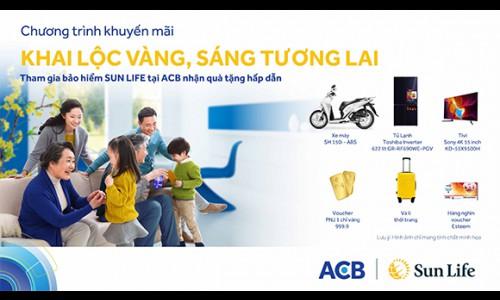 Sun Life Việt Nam tung loạt khuyến mại hấp dẫn khi tham gia bảo hiểm tại kênh phân phối ACB