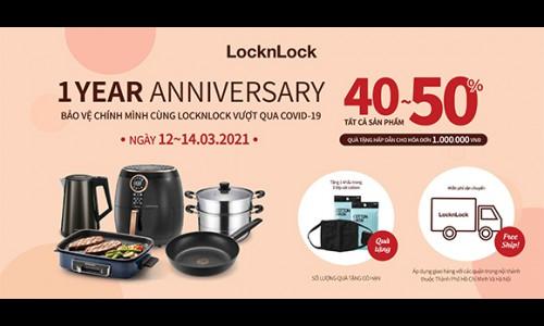 Giảm giá sốc đến 50% mừng kỷ niệm 1 năm Lock&Lock online
