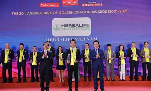 """Herbalife Nutrition vinh dự nhận """"Giải Thưởng Rồng Vàng"""" năm 2021"""
