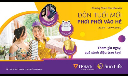 Sun Life Việt Nam triển khai chương trình khuyến mại với tổng giá trị quà tặng gần 2 tỷ đồng