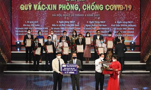 Suntory PepsiCo Việt Nam đóng góp 5 tỷ đồng vào Quỹ vắc xin phòng Covid-19