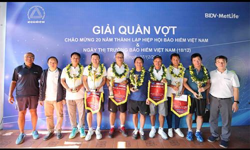 BIDV MetLife trở thành nhà tài trợ độc quyền Giải quần vợt giao hữu ngành bảo hiểm Việt Nam