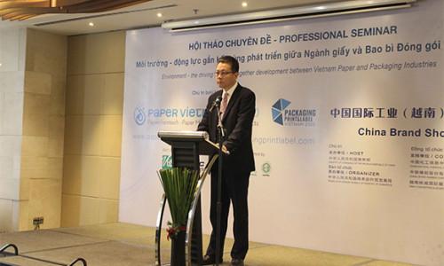 """Hội thảo """"Môi trường - động lực gắn kết cùng phát triển giữa Ngành Giấy và Bao Bì Đóng gói Việt Nam"""" thu hút hơn 100 đại biểu tham dự"""