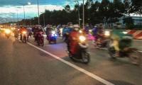 Hàng nghìn người đi xe máy từ miền Nam về Tây Nguyên